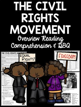African American Civil Rights Movement Bundle; Reading Comprehension; Slideshow