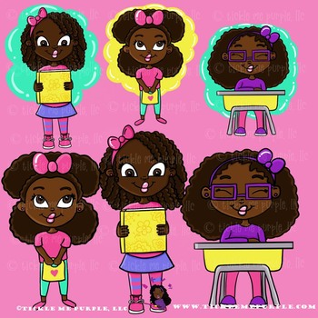 African American Clipart - Back to School Clipart- Back to School Graphics- Cute