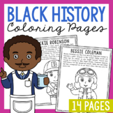 African American Coloring Page Crafts, Posters, Black History Activity