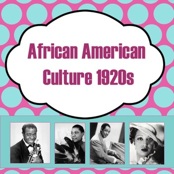 African American Culture 1920s PowerPoint