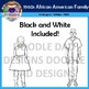 African American Family 1960s Clip Art (Civil Rights, Black History, Equality)