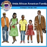 African American Family 1960s Clip Art (Civil Rights, Blac