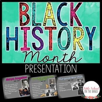 African American Heroes Presentation * Black History Month