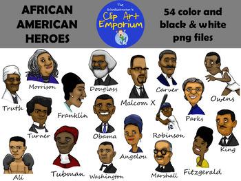 African American Heroes - The Schmillustrator's Clip Art Emporium