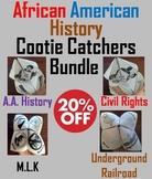 African American History Activities - Cootie Catchers Bundle