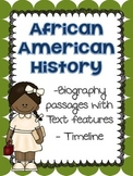 African American / black History Biography Passages & Timeline