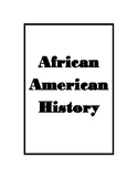 African American History Book