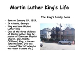 African American History: Dr. Martin Luther King Jr. Power Powerpoint