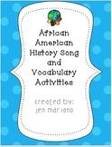 African American History Song plus Vocabulary Activities