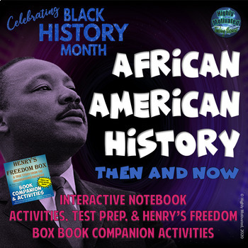 African American History Interactive Notebook Activities with Test Prep Passage