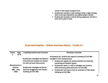 African American History Unit Grades 3-5