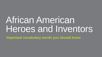 African American History Vocabulary Introduct Powerpoint (FREE!)