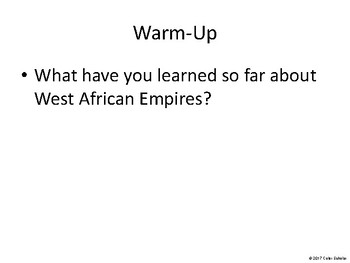 African American History - Warm-ups, Exit Tickets, Quick Writes, and more
