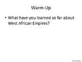 African American History (West African Empires to WWI) - PPT Questions