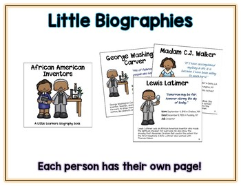 African American Inventor Research Biography - 12 Page Easy to Make Book