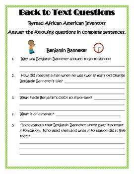 African American Inventors Common Core Close Activities