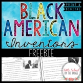 Black History Month FREEBIE   Distance Learning