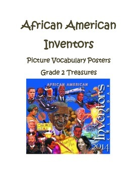 African American Inventors Picture Vocabulary Posters Grad