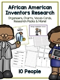African American Inventors Research Project - Vocab Cards, Packet, Book + More!