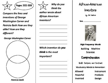 African American Inventors Trifold - Treasures 2nd Grade Unit 2 Week 5 (2011)
