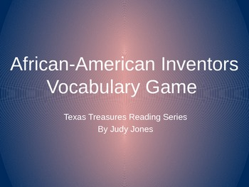 African-American Inventors: Vocab Review Game