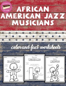 African American Jazz Musicians Color Page Information Sheets