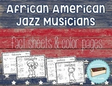 African American Jazz Musicians Color Page Foldable Inform