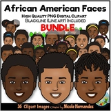 African American Kids Clipart BUNDLE