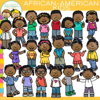 African American Kids Clip Art