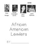 African American Leaders scrapbook