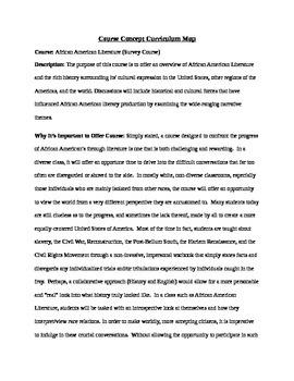 African American Literature Semester Course (Entire Plan)
