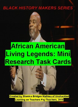 African American Living Legends: Research Task Cards