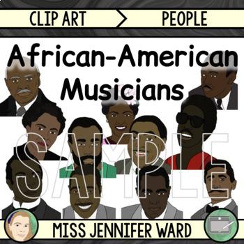 African American Musicians Clip Art BUNDLE