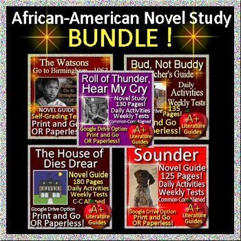 Black History Month Bundle - African-American Novel Studies Print and Paperless