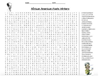 African-American Poets & Writers Word Search
