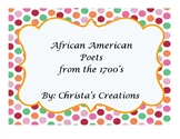 African American Poets of the 1700's History & Activities Unit