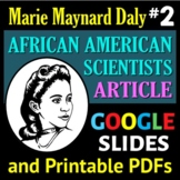 African American Scientist Series - Article or Sub Plan 2: Marie Maynard Daly