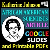 African American Scientist Series - Article or Sub Plan 4: Katherine Johnson