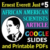 African American Scientist Series - Article or Sub Plan 5: Ernest Everett Just