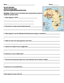 African American Studies 1 Internet Assignment African Ame