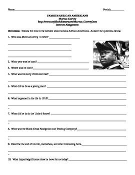 African American Studies Internet Assignment Marcus Garvey