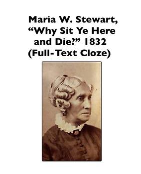 African-American Women: Maria W. Stewart 1832 Speech (Full-Text Cloze)