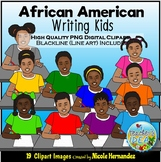 African American Writing Kids Clip Art for Personal and Co