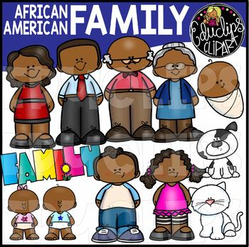 African American Family Clip Art Bundle {Educlips Clipart}
