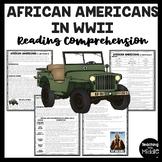 African Americans During World War II (2) Reading Comprehension Worksheet, DBQ