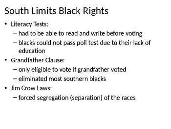African Americans & Reconstruction Power Point