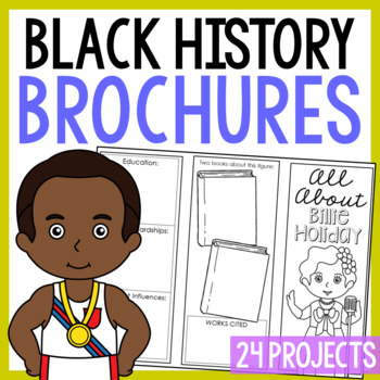 22 African Americans Research Brochure Projects, Black History Month, Foldables