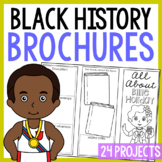BLACK HISTORY Research Brochure Projects | Famous African Americans Activities