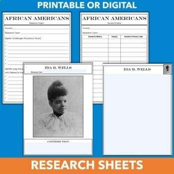 Black History Month Project and Display - Famous African Americans Research