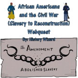 African Americans and the Civil War (Slavery to Reconstruction) Webquest